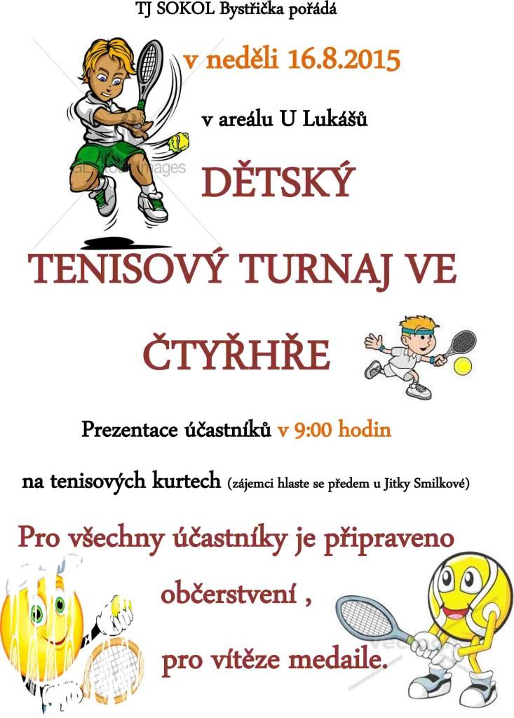 Tenisový turnaj dětí 4hra