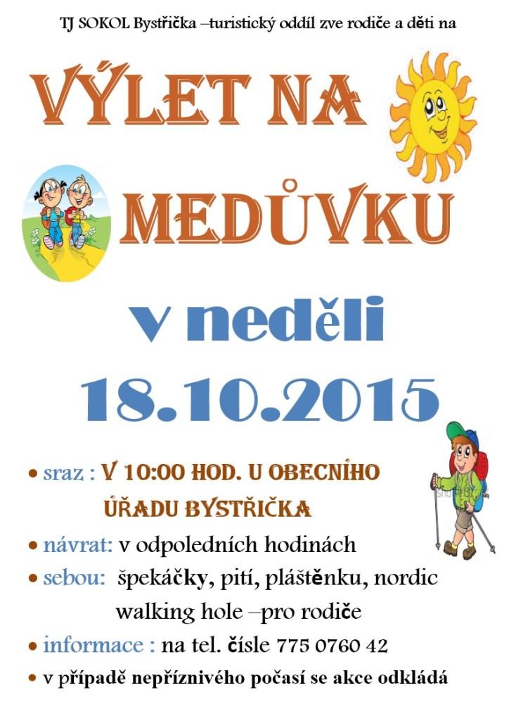 pozvánka na výlet na Medůvku