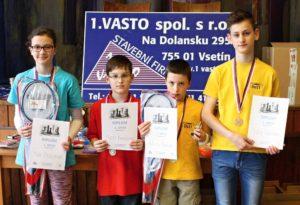 Přebornice Nicol Březovjáková (1. zleva)